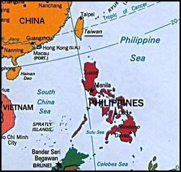 deteriorating relationship between china and philippines map